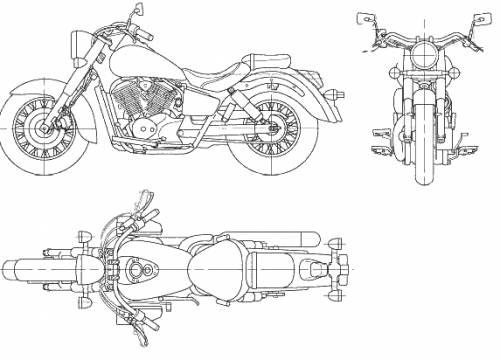 Blueprints > Motorcycles > Honda > Honda Shadow 400 (2006)