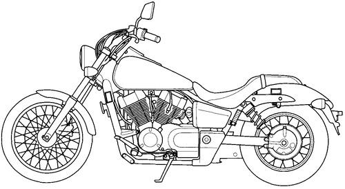 Blueprints > Motorcycles > Honda > Honda Shadow Spirit VT