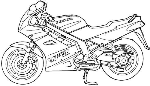 Blueprints > Motorcycles > Honda > Honda VFR 750F (1990)