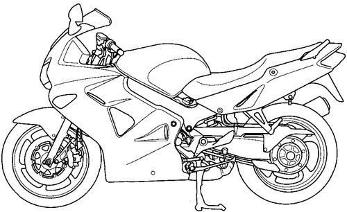 Blueprints > Motorcycles > Honda > Honda VFR 800FI (1997)