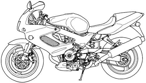 Blueprints > Motorcycles > Honda > Honda VTR 1000F (2001)