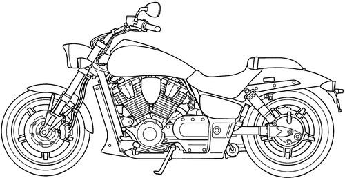 Blueprints > Motorcycles > Honda > Honda VTX 1800F (2008)