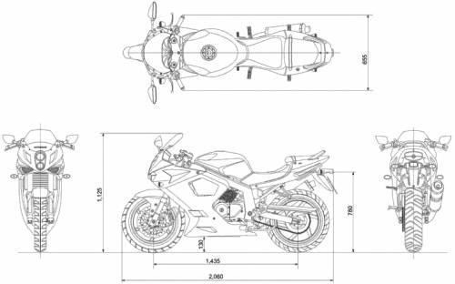 Blueprints > Motorcycles > Hyosung > Hyosung GT250R