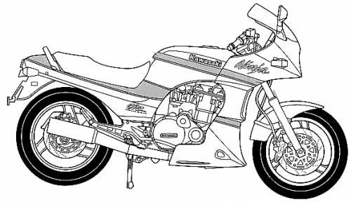 Blueprints > Motorcycles > Kawasaki > Kawasaki GPZ900R