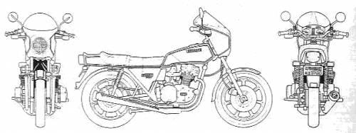 Blueprints > Motorcycles > Kawasaki > Kawasaki Z1-R