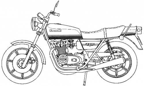 Blueprints > Motorcycles > Kawasaki > Kawasaki Z400FX E4
