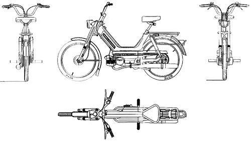 Blueprints > Motorcycles > KTM > KTM Hobby 3 2 Gang (1974)