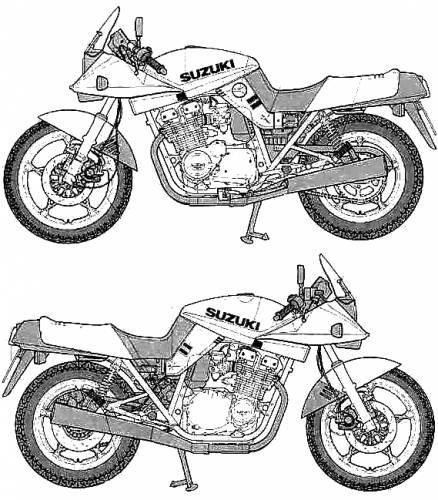 Blueprints > Motorcycles > Suzuki > Suzuki GSX 1100S Katana