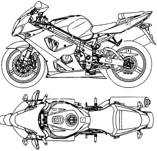 Blueprints > Motorcycles > Suzuki > Suzuki GSX-R1000K3 (2003)