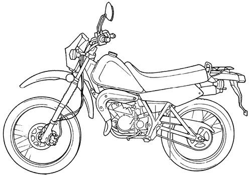 Blueprints > Motorcycles > Yamaha > Yamaha DT 50LC (2001)
