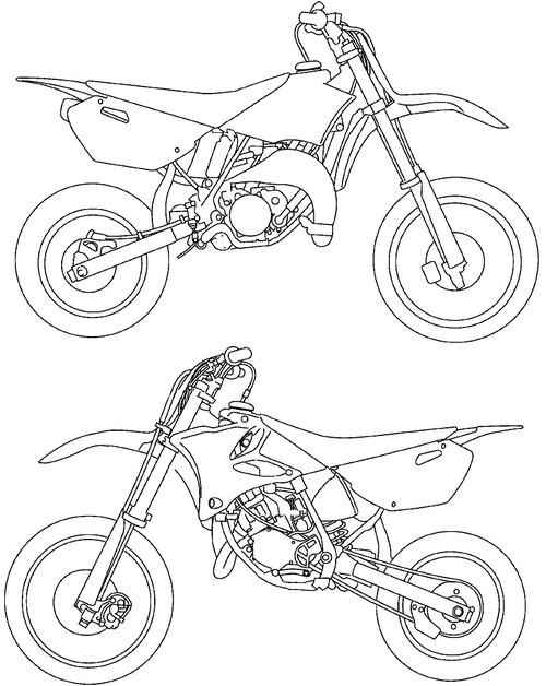 Blueprints > Motorcycles > Yamaha > Yamaha YZ 80 T (2005)
