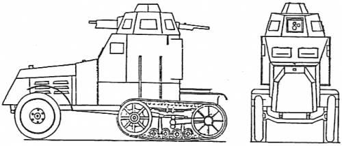 Blueprints > Tanks > Tanks C > Citroen-Kegresse Mle (1926)