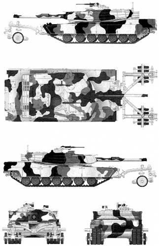 Blueprints > Tanks > Tanks M > M1A1 Abrams + Mine Roller
