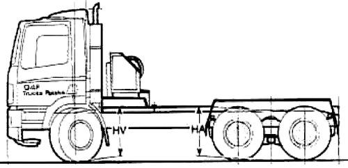 Blueprints > Trucks > DAF > Daf 85CF
