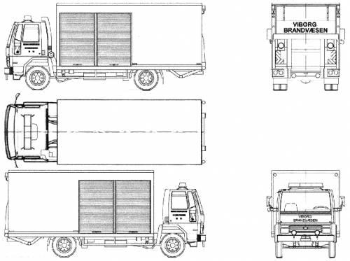 Blueprints > Trucks > Ford > Ford E Cargo 0813 Fire Truck
