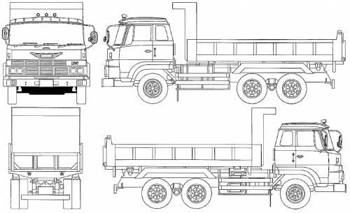Blueprints > Trucks > Hino > Hino ZM Dump Truck