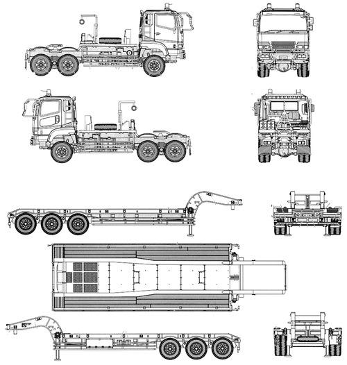 Blueprints > Trucks > Isuzu > Isuzu Type 73 JGSDF Semi Trailer