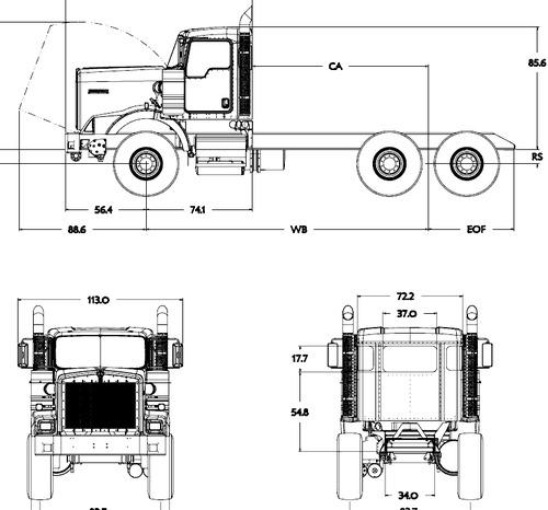 Blueprints > Trucks > Kenworth > Kenworth C500 (2016)