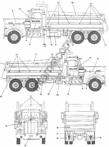 Blueprints > Trucks > Kenworth > Kenworth Dump Truck (1994)