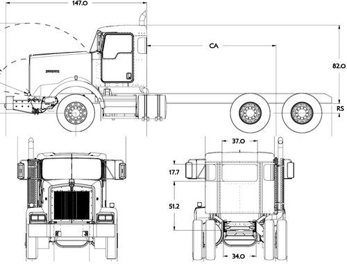 Blueprints > Trucks > Kenworth > Kenworth T800 FEPTO (2016)