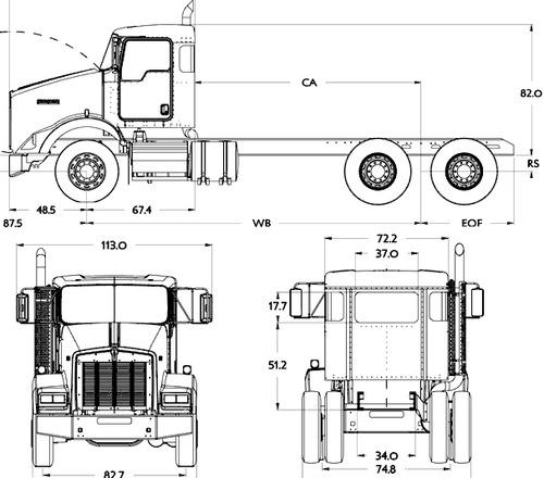 Blueprints > Trucks > Kenworth > Kenworth T800 SH (2016)