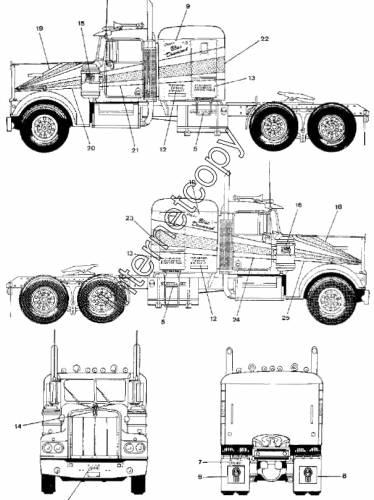Blueprints > Trucks > Kenworth > Kenworth W900