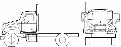 Blueprints > Trucks > Mack > Mack CV712 Granite (2005)
