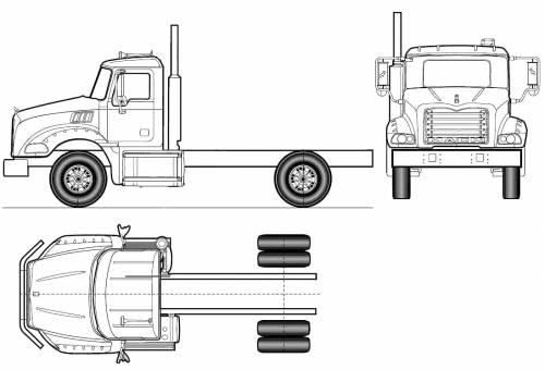 Blueprints > Trucks > Mack > Mack Granite Axle Back GU812