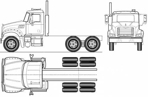 Blueprints > Trucks > Mack > Mack Granite Axle Forward