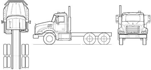 Blueprints > Trucks > Mack > Mack Granite GU803 (2007)