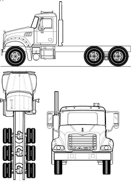 Blueprints > Trucks > Mack > Mack Granite Western Series