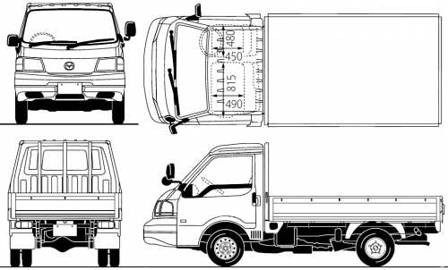Blueprints > Trucks > Mazda > Mazda Bongo Pick-up 2WD (2010)
