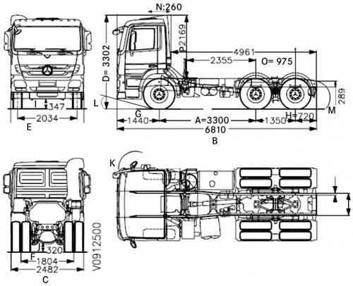 Blueprints > Trucks > Mercedes-Benz > Mercedes-Benz Actros