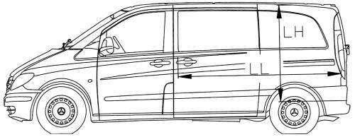 Blueprints > Trucks > Mercedes-Benz > Mercedes Vito Van