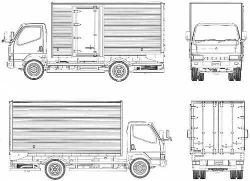 Blueprints > Trucks > Mitsubishi-Fuso > Mitsubishi Fuso Canter