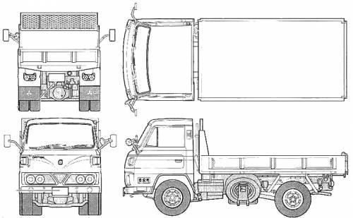 Blueprints > Trucks > Mitsubishi-Fuso > Mitsubishi Fuso