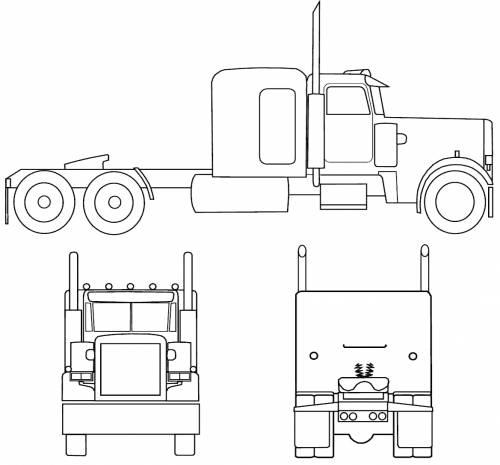 Blueprints > Trucks > Peterbilt > Peterbilt 359