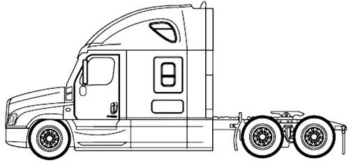 Blueprints > Trucks > Trucks > Freightliner Cascadia