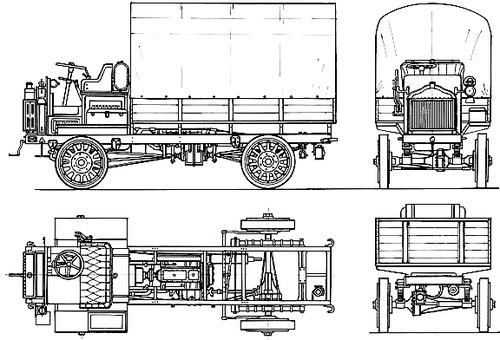 Blueprints > Trucks > Trucks > FWD Model B 2 3 ton (1917)