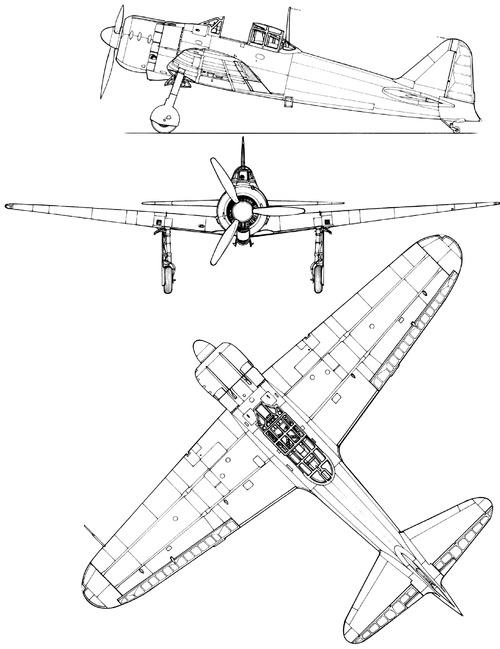 Blueprints > WW2 Airplanes > Mitsubishi > Mitsubishi A6M2 Zero