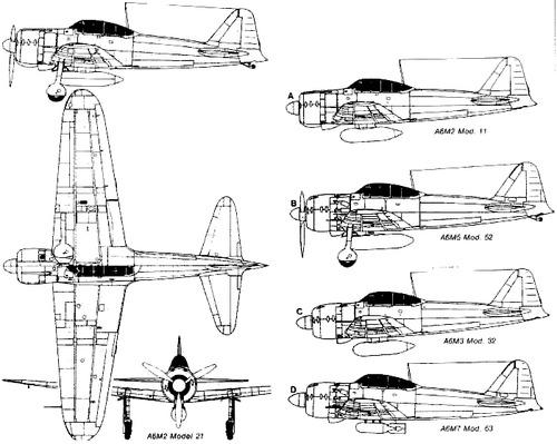 Blueprints > WW2 Airplanes > Mitsubishi > Mitsubishi A6M Zero