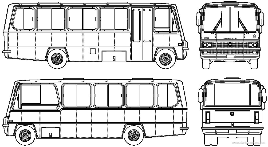 Blueprints > Buses > Mercedes-Benz > Mercedes-Benz 608D (1976)