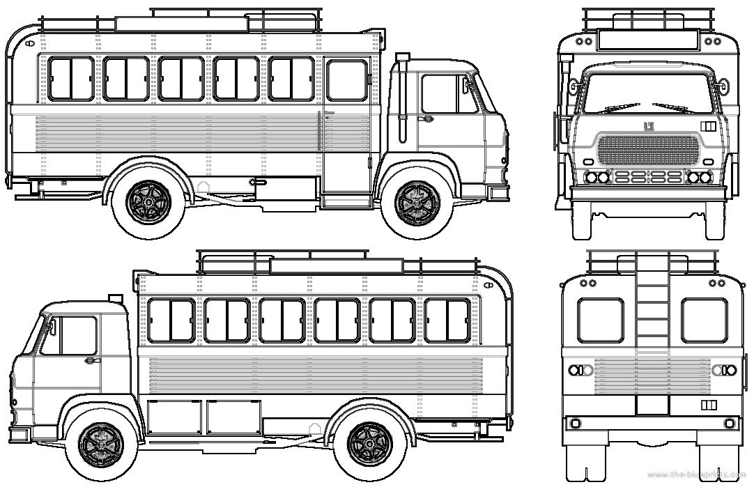 Blueprints > Buses > Various Buses > Fiat 673 NR (1974)