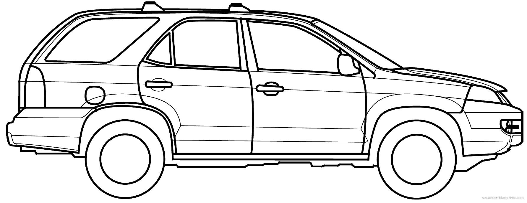 Blueprints > Cars > Acura > Acura MDX (2001)