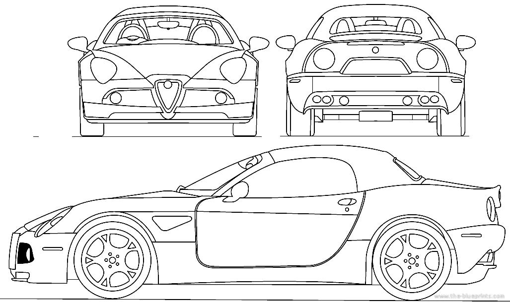 Blueprints > Cars > Alfa Romeo > Alfa Romeo 8C Cabriolet