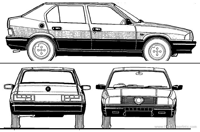 Blueprints > Cars > Alfa Romeo > Alfa Romeo Alfa 33 (1988)