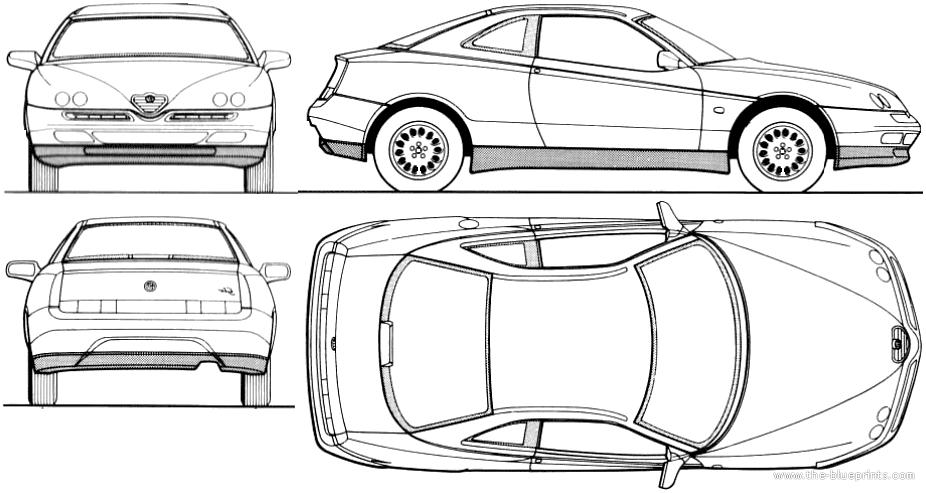 Blueprints > Cars > Alfa Romeo > Alfa Romeo GTV (1997)