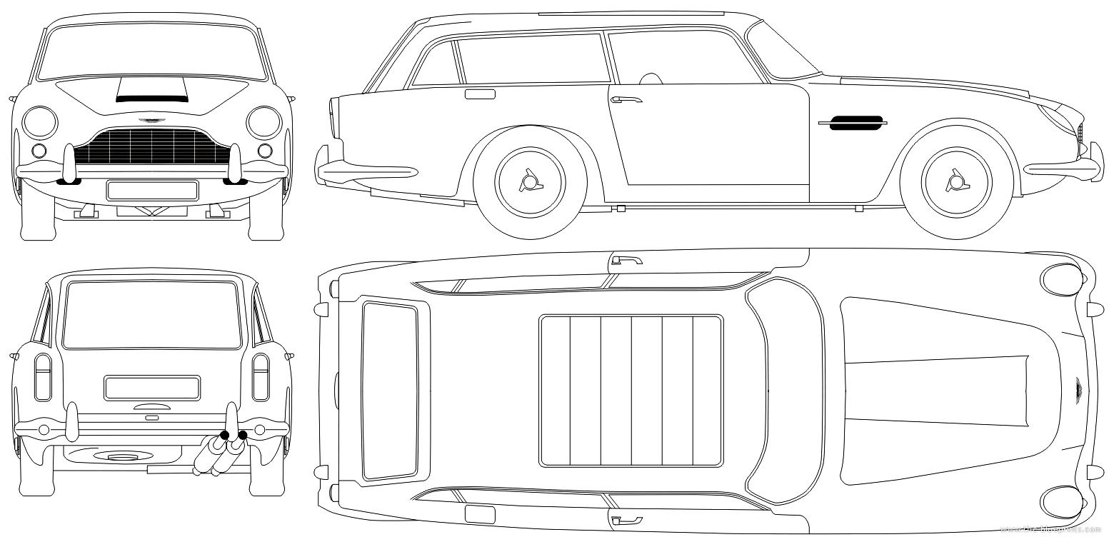 Blueprints > Cars > Aston Martin > Aston Martin DB5
