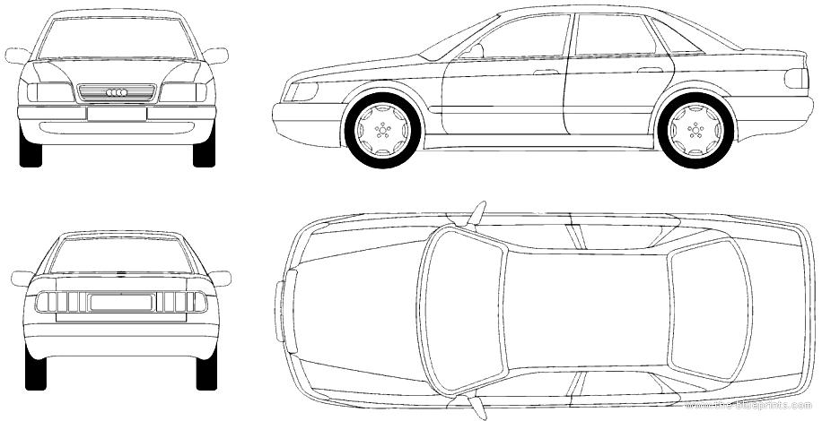 Blueprints > Cars > Audi > Audi 100 C4 (1990)