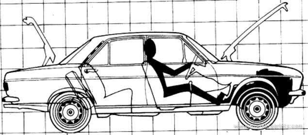 Blueprints > Cars > Audi > Audi 100 LS (1971)